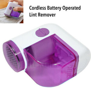 Lint Remover Cordless Battery Operated Bobble Fabric Clothes Dust Debobbler