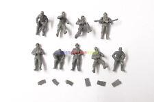 New Caesar 1/72 WWII German Anti Aircraft Crew Team (9 Figures) Army Men Soldier