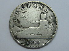 1869 * 6-9 SNM ESPAÑA REPUBLICA 50 CENT CENTIMOS SPANISH SPAIN