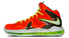 Nike Lebron James 10 X P.S. Elite SZ 9 Total Crimson Fiberglass Volt 579827-800
