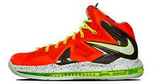 Nike Lebron James 10 X P.S. Elite SZ 9 Total Crimson Fiberglass Volt 579827-800