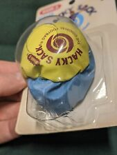 WHAM-O Styler Hacky Sack The Official Footbag Ball Blue Yellow NEW