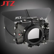 "JTZ DP30 Carbon Fiber 4x4"" Matte Box 15mm/19mm For Sony ILCE RED Panasonic Canon"