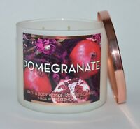 BATH & BODY WORKS POMEGRANATE SCENTED CANDLE 3 WICK LARGE 14.5 OZ ESSENTIAL OIL