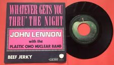 "BELGIUM John Lennon NUCLEAR Whatever Gets You Thru The Night Vinyl 7"" 45 1974 PS"