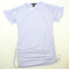 Morphine Generation Womens Size Large Purple Lavender Ruched Knit Top NWT