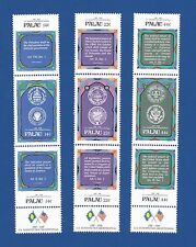 Palau (155-163) 1987 Us Constitution Bicentennial Mnh strip set