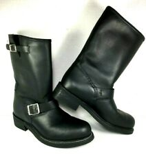 Carolina Men's Black Leather Engineer Motorcycle Boots Size US 7.5 W
