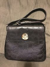 NEW KATE SPADE SIGNATURE PERFORATED LEATHER TURNLOCK PURSE BAG SHOULDER HTF RARE
