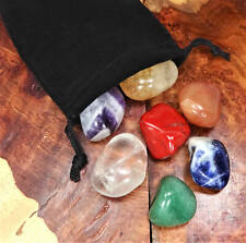 Chakra Stone Set - Reiki Stones - 7 Tumbled  - Seven Chakras (BR4/5)