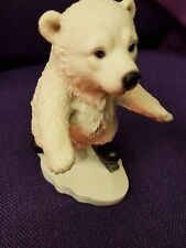 Vivid Arts Polar Bear Highly Detailed  Resin Ornament on skates