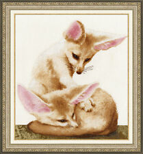 COUNTED CROSS STITCH KIT GOLDEN FLEECE - FENNEC FOXES