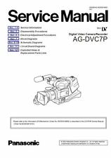 Panasonic AG DVC7 DVC7P Service Manual & Repair Guide