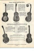 1937 PAPER AD National Amplifying Guitar Triolian Spanish Hawaiian