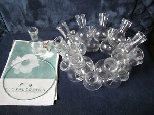 Clear Glass Multiple 18 Bud Flower Vase~Masterpiece  2-Tier Centerpiece & Round