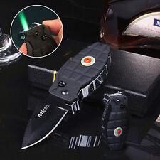 Multi Windproof Refill Butane Gas Black Cigarette Lighter Folding Tool New