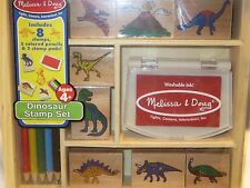 Melissa and Doug WOODEN DINOSAUR STAMP SET NEW