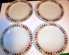 "Playing Cards Royal Flush Dessert Plates by Jobar International   7.5"" dia. 4pc"