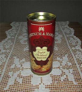 VINTAGE FORTNUM & MASON OLD FASHIONED ENGLISH SHORTBREAD BISCUITS CANISTER-EMPTY