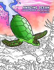 *BRAND NEW* Amazing Ocean: Undersea Coloring Book for Adults (& Kids!)