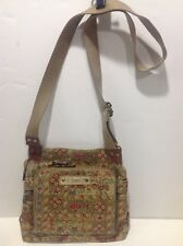 Fossil Canvas Shoulder Cross Body Purse 75082 9x10x3 Inches 1 1/8 In Wide Strap