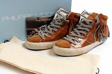 Philippe Model Tan en cuir et daim franges Mi Baskets UK3 EU36 US5.5 bnibs