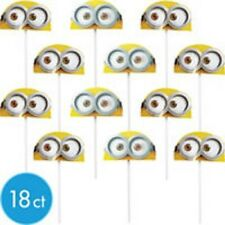 18 MINIONS DESPICABLE ME TOPPER FAVORS BIRTHDAY PARTY FAVORS CAKE CUPCAKE P