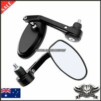 """Alloy Black Motorcycle Bar End Mirrors 7/8"""" DUCATI MONSTER EVO 620 695 696 795"""