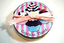 Cupcake Plates Set of 4 in Original Box Boston Warehouse