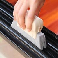 Protable Hand-held Groove Gap Door Window Track Home Kitchen Cleaning Brush Tool