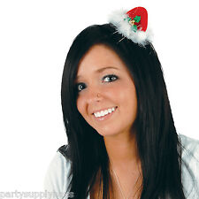 Christmas SANTA HAT HAIR CLIP Ugly Sweater Party Hair Accessory PHOTO PROP Gift