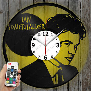 LED Clock Ian Somerhalder Vinyl Record Clock Art Decor Original Gift 4529