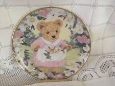 Franklin Mint Collector Plate Teddy's Spring Bouquet w COA