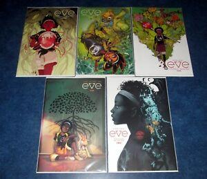 EVE 1 2 3 4 5 (of 5) B variant 1st print set BOOM STUDIOS 2021 NM Victor Lavalle