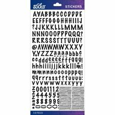 Alphabet Stickers - Black Marker Small - Sticko