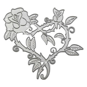 1PCS Heart Rose Metal Cutting Dies Embossing Stencils Scrapbooking for DIY Craft