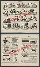 Fahrrad Motorrad Feuerwehr Uniform Technik Naben Schaltung Velo Hochrad 1903