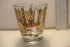 ~NEW YORK~WORLD TRADE CENTER~STATUE OF LIBERTY~EMPIRE STATE BUILDING~SHOT GLASS~