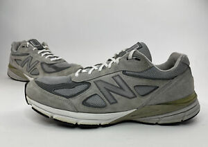 New Balance 990V4 Men's Grey Size 13 Suede Made In USA Running Shoes