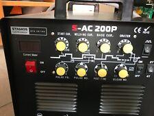 Schweißgerät Alu Wig Ac Dc Puls Hf mma Hot Start 200 A 230 V 2T 4T Stamos