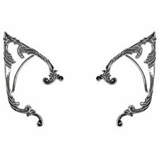 Alchemy Gothic Arboreus Elf Floral Wrap Around Pewter Ear Frame Earring Set