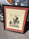 "Vintage Pablo Picasso 17"" x 21"" Lithograph Don Quixote 1955 in Original Frame"