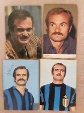 4 CARTOLINE SANDRO MAZZOLA INTER INTERNAZIONALE F.C. CALCIO AUTOGRAFO