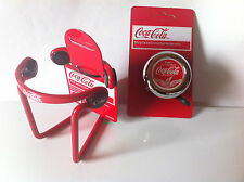 PACKAGE DEAL: COCA-COLA BICYCLE BELL DRINK HOLDER CRUISER BMX MTB CYCLING BIKES