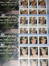 SOLOMON SALOMON ISL. 2007 Klb 1356-59 10th Death Ann Princess Diana Spencer MNH