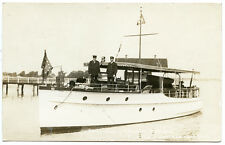 RPPC NY Buffalo Steamer Ramona L A Fishers Flag Ship Buffalo Launch Club Erie Co