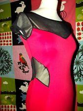 GRAFFIC ROBE DRESS BODYCON BIMATIERE  TS/M OU 34/36