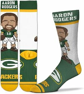 NFL Aaron Rodgers MVP Greenbay Packers Socks Mens Boys Pack 3 Sizes Available