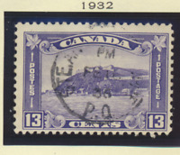 Canada Stamps Scott #195 To 201, Used, 3 Mint Heavily Hinged