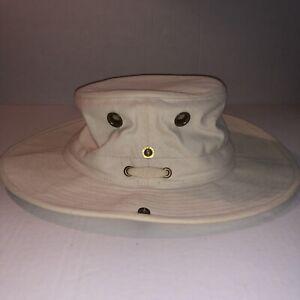 Tilley Endurables Hat 7 1/2 Khaki Button Brim Authentic